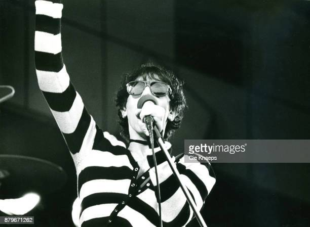 The J Geils Band Peter Wolf performing on stage Pinkpop Festival Geleen Netherlands 26th May 1980