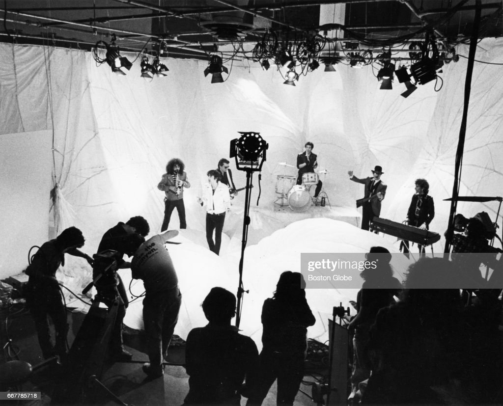 The J. Geils Band tapes a performance of \'Freeze Frame\' for a music ...