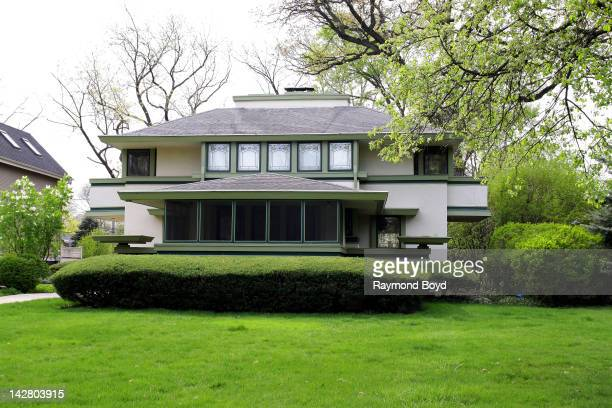 The J Kibben Ingalls House built in 1909 and designed by famed architect Frank Lloyd Wright in River Forest Illinois on APRIL 07 2012
