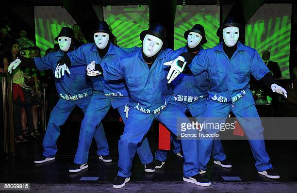 The Jabbawockeez' aka JBWZ perform at Jet Nightclub at The Mirage Hotel and Casino on May 29 2009 in Las Vegas Nevada