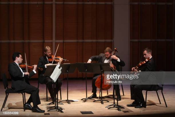 The Jack Quartet performing at the opening night of 2010 Tribeca New Music Festival at Merkin Concert Hall on Saturday night June 5 2010They...