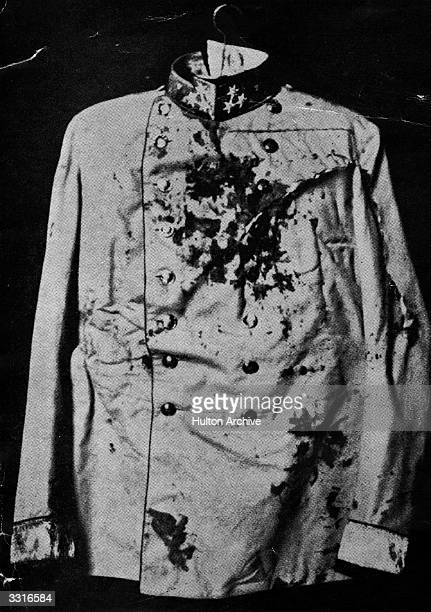 The jacket worn by Archduke Franz Ferdinand when he was assassinated in Sarajevo on June 28th 1914