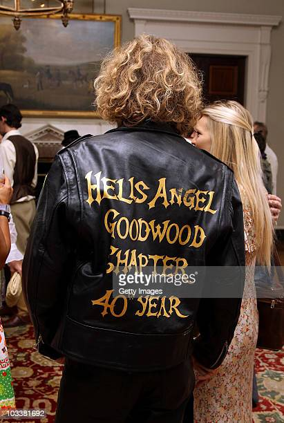 The jacket worn by Lady Alexandra Gordon Lennox's boyfriend Mike at a reception during Day 2 of the Vintage at Goodwood Festival at Goodward House on...