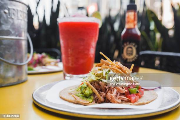 The Jackfruit taco featuring shredding jackfruit guacamole and tortilla strips at Trejos Cantina in Hollywood CA Actor Danny Trejo has opened a...