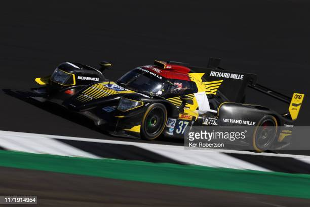The Jackie Chan DC Racing Oreca 07 of Ho Pin Tung, Gabriel Aubry and Will Stevens drives during the FIA World Endurance Championship race at...