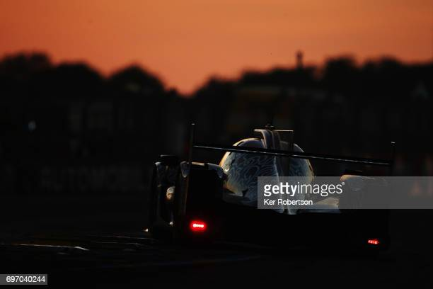 The Jackie Chan DC Racing Oreca of Alex Brundle David Cheng and Tristan Gommendy drives during the Le Mans 24 Hours race at the Circuit de la Sarthe...