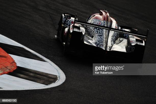 The Jackie Chan DC Racing Oreca of David Cheng Alex Brundle and Tristan Gommendy drives during practice for the FIA World Endurance Championship at...