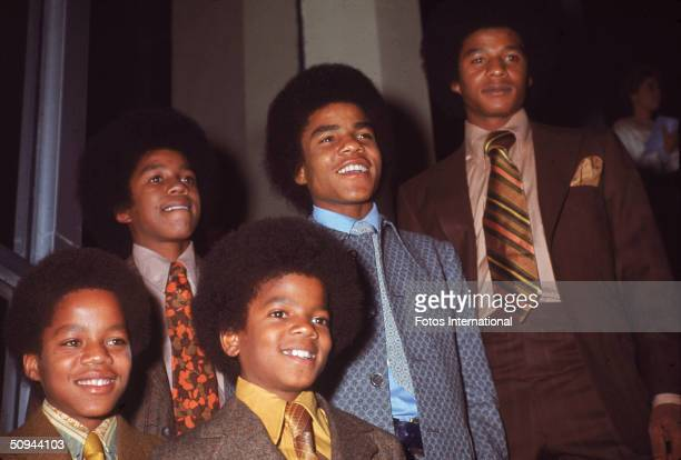 The Jackson 5 attend the NAACP Image Awards Los Angeles California November 19 1970 From left Marlon Jackson Jermaine Jackson Michael Jackson Tito...