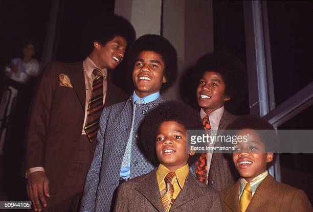 The Jackson 5 attend the NAACP Image Awards Los Angeles California November 19 1970 From left Jackie Jackson Tito Jackson Michael Jackson Jermaine...