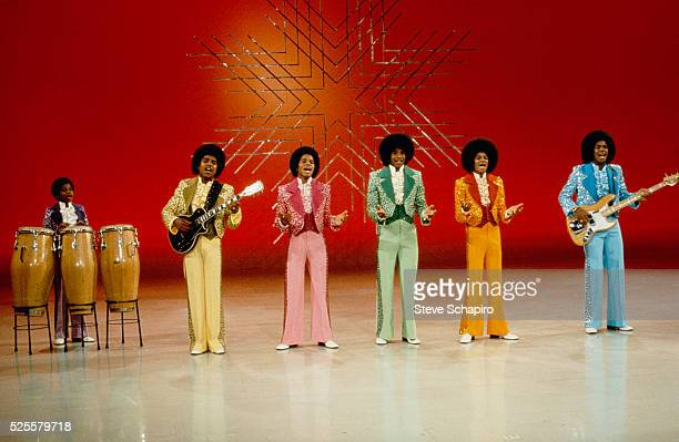 The Jackson Five and little brother Randy appear on the Sonny and Cher Comedy Hour From left to right Randy Tito Marlon Jackie Michael and Jermaine...