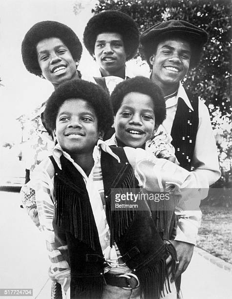 The Jackson Five Singing Group Includes Michael Marlon Jermaine Jackie And Tito