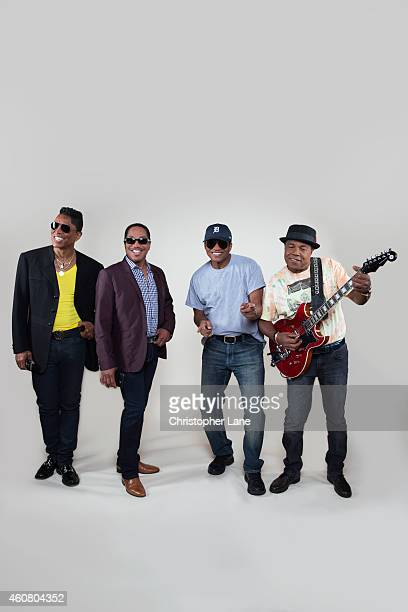 The Jacksons are photographed for Paris Match on July 2, 2014 in Atlantic City, New Jersey.