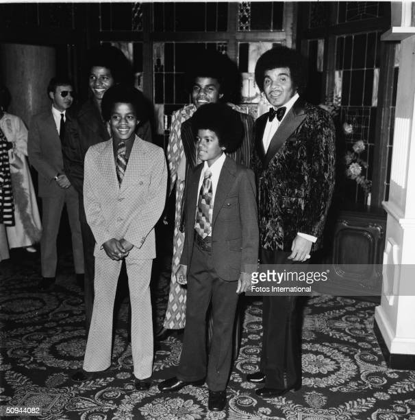The Jacksons attend the Image Awards at the Hollywood Palladium Hollywood California November 1971 From left Jackie Jackson Jermaine Jackson Tito...