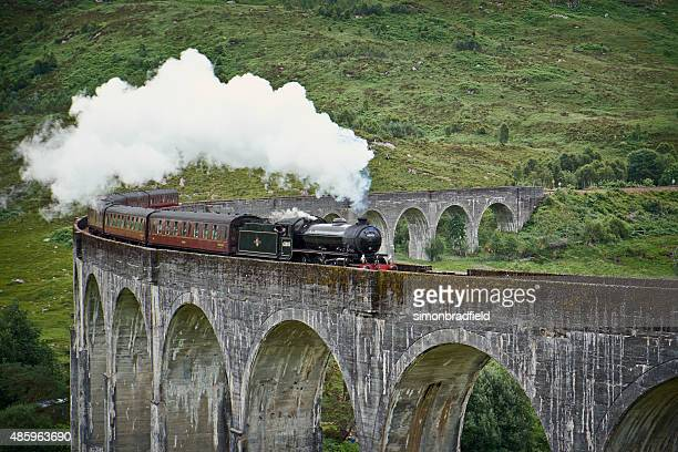 The Jacobite Locomotive And Glenfinnan Viaduct