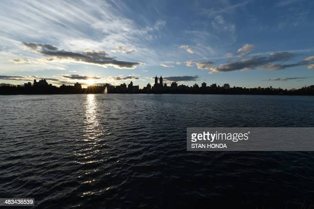 The Jacqueline Kennedy Onassis Reservoir in New York's Central Park April 8, 2014. It was built in the 1860s as a temporary water supply for New York...