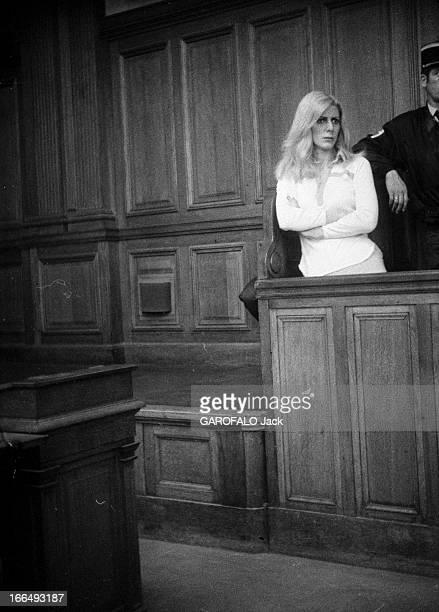 The Trial Of His Bride Jocelyne Deraiche France 7 juin 1978 Procès de la canadienne Jocelyne DERAICHE la fiancée du criminel français Jacques Mesrine...