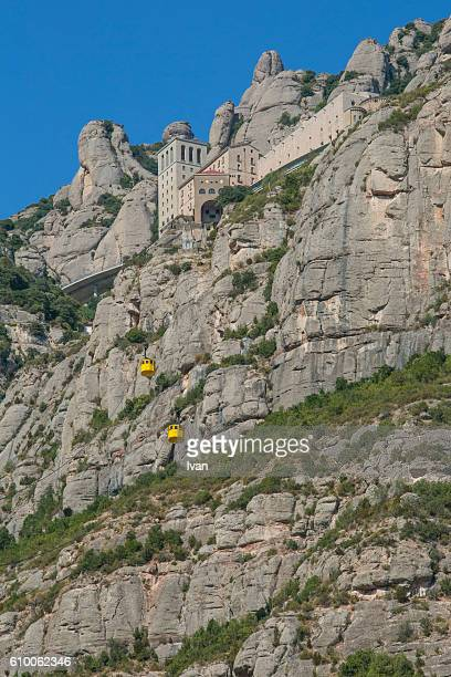 The Jagged Mountains in Monastery Montserrat, Barcelona, Spain