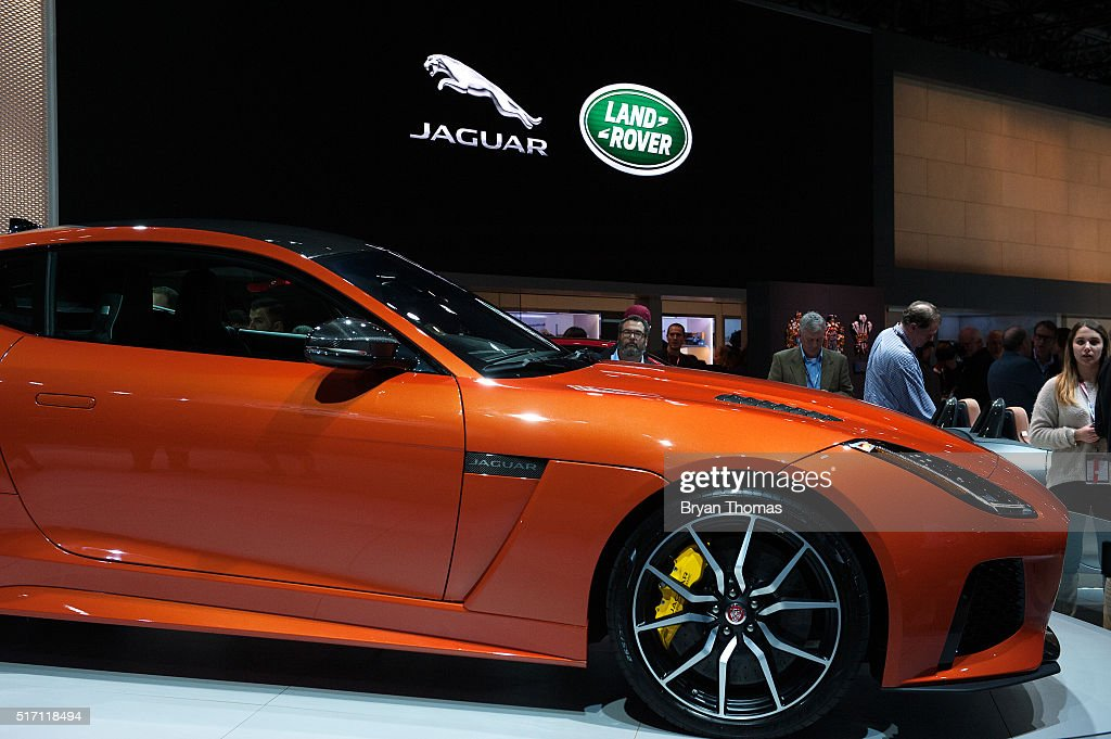 The Jaguar F-Type SVR is introduced at the New York International Auto Show at the Javits Center on March 23, 2016 in New York City. The luxury sports car has 567 horsepower and retails for over $125,000.