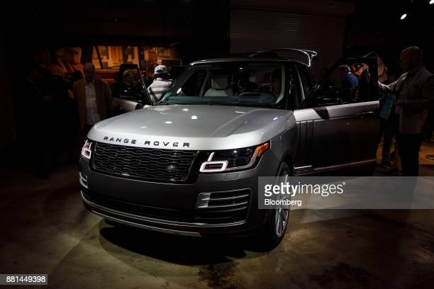 The Jaguar Land Rover Automotive Plc 2018 Range Rover SVAutobiography sports utility vehicle is displayed during a reveal event in Los Angeles...