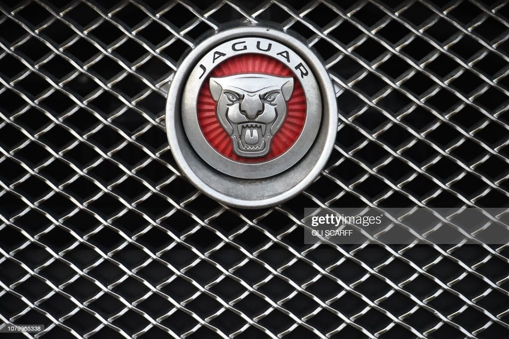 The Jaguar Logo Is Seen On A Car In Wakefield Northern England On