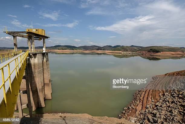 The Jaguari Reservoir stands near Sao Jose dos Campos in the state of Sao Paulo Brazil on Thursday Nov 13 2014 The Jaguari River with its water at an...
