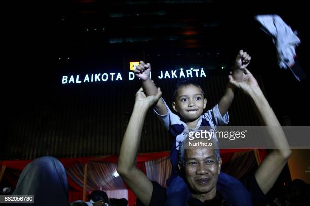 The Jakartans was enthusiastically welcomed they new Governor and Deputy Governor Anies Baswedan and Sandiaga S Uno during the handover ceremony at...