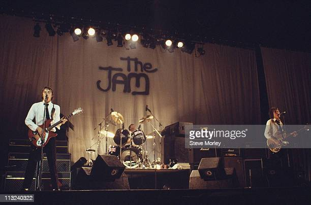 The Jam British punk band on stage during a live concert performance at the Top Rank Reading Berkshire England Great Britain 13 June 1977 The band's...