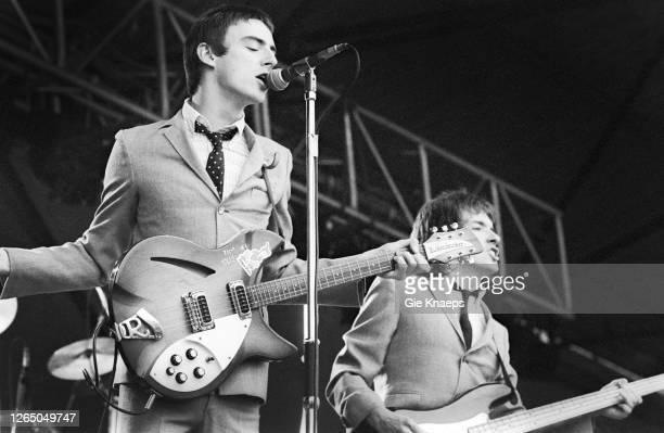 The Jam, Paul Weller, Bruce Foxton, Jazz Bilzen Festival, Bilzen, Belgium, 13 August 1978.