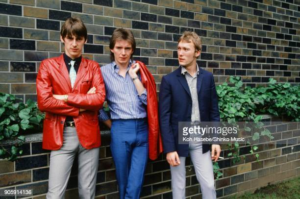 The Jam taken on the street in Tokyo July 1980 Tokyo Japan Paul Weller Bruce Foxton Rick Buckler