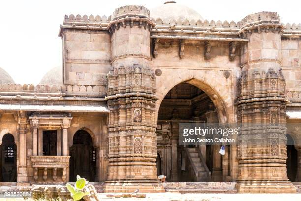the jama masjid in ahmedabad - ahmedabad stock pictures, royalty-free photos & images