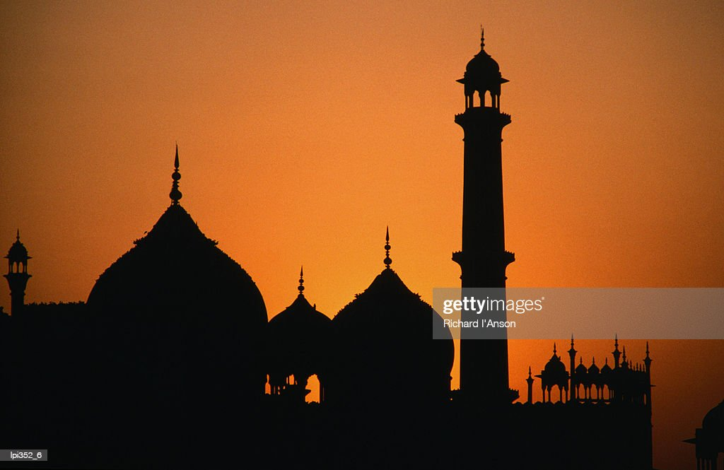 The Jama Masjid in Old Delhi, the largest mosque in India, built by Shah Jahan of Taj Mahal fame, Delhi, India, Indian Sub-Continent : Stock Photo