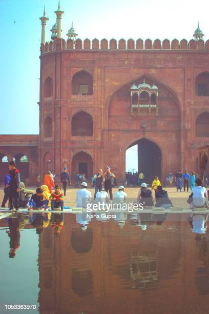 the jama masjid, new delhi, india - neha gupta stock pictures, royalty-free photos & images