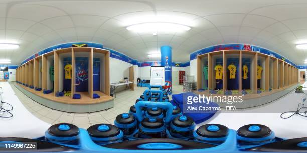 The Jamaica dressing room before the 2019 FIFA Women's World Cup France group C match between Jamaica and Italy at Stade Auguste Delaune on June 14,...