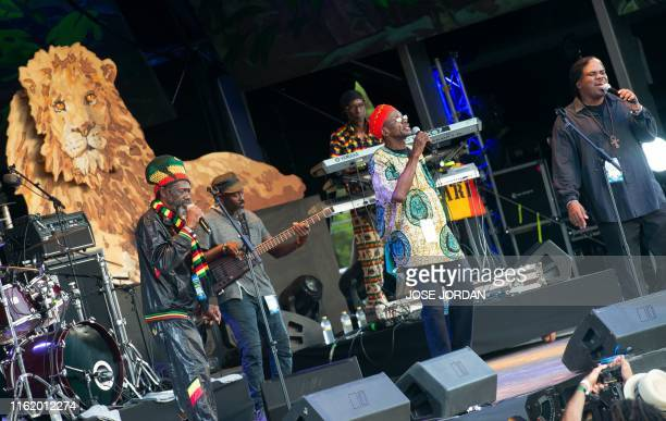 The Jamaican band The Abyssinians perform on the first day of the Rototom Sunsplash European Reggae Festival in Benicassim, Castellon province, on...