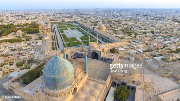 the jame abbasi mosque, esfahan, iran - david ewing stock pictures, royalty-free photos & images