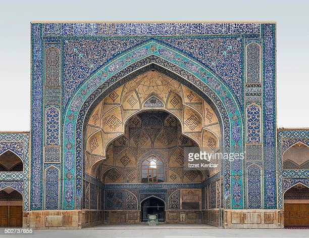 the jameh mosque of esfahan - isfahan stock pictures, royalty-free photos & images