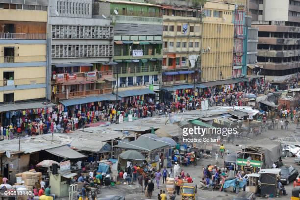 The Jankara market in Lagos Island on March 16, 2016 in Lagos, Nigeria, West Africa.