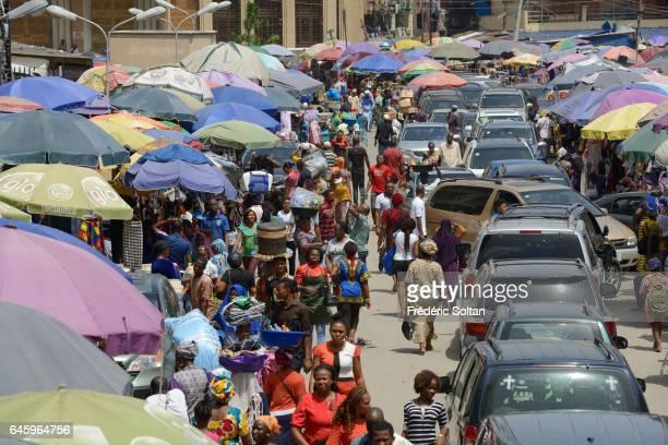The Jankara market in Lagos Island on March 9 2016 in Lagos Nigeria West Africa