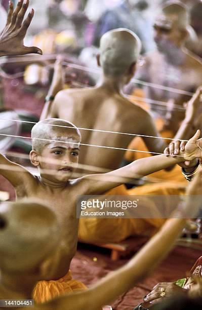 The Janoi Ceremony Thread Ceremony Of Young Brahmin Boys In Bombay Now Mumbai India