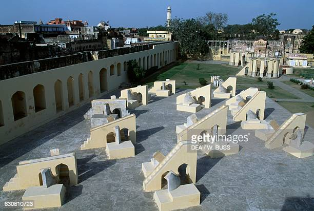The Jantar Mantar astronomical observatory built by Raja Jai Singh II between 1727 and 1734 Jaipur Rajasthan India 18th century