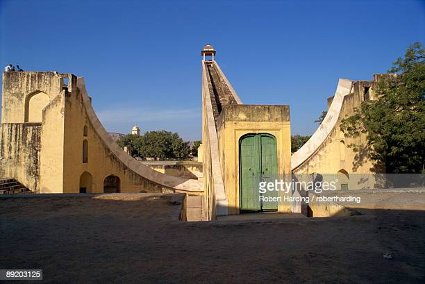 The Jantar Mantar built between 1728 and 1734 by Jai Singh II as an observatory, Jaipur, Rajasthan state, India, Asia