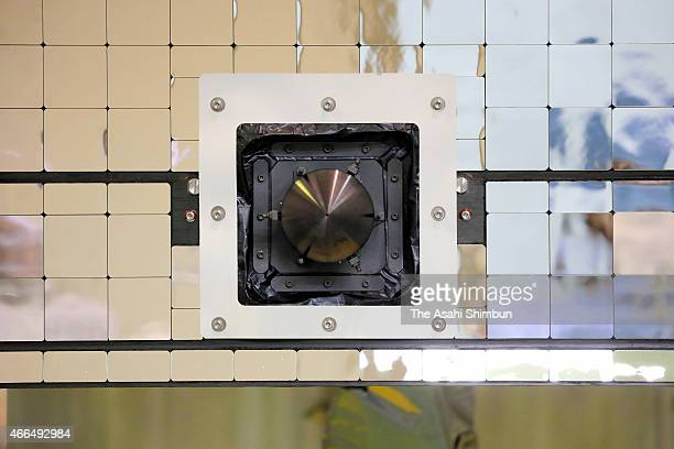 The Japan Aerospace Exploration Agency 's Mercury Magnetospheric Orbiter is unveiled at their facility on March 15 2015 in Sagamihara Kanagawa Japan...
