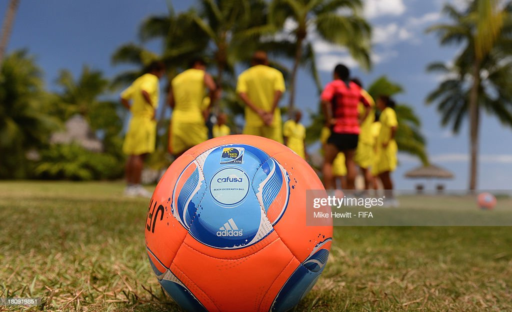 The Japan team take part in a light training session at the inter-Continental hotel on September 17, 2013 in Papeete, French Polynesia.