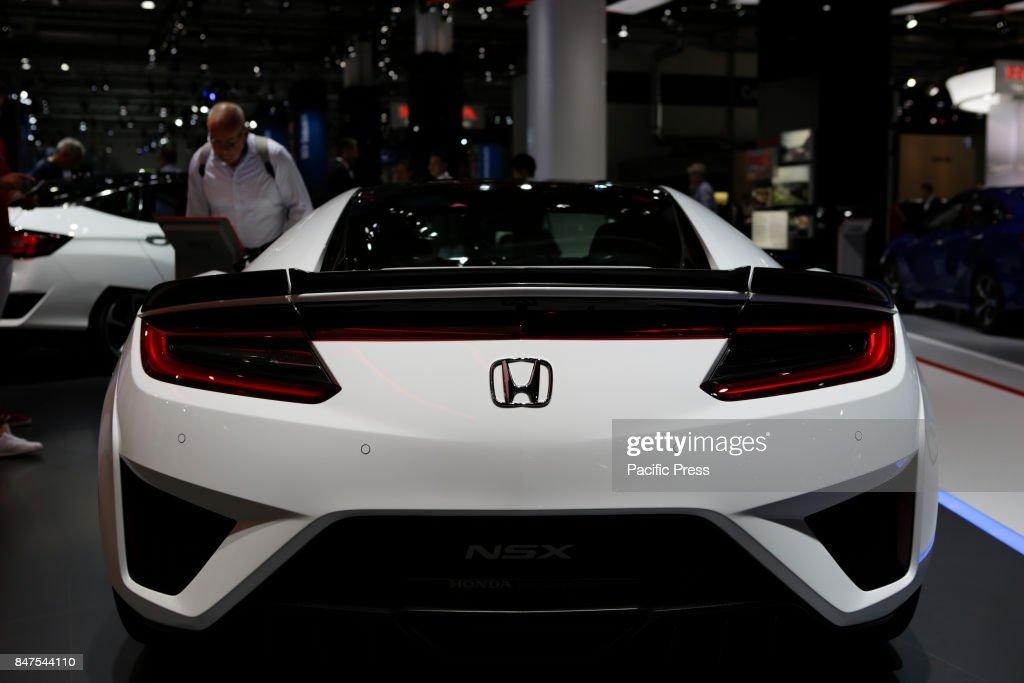 The Japanese Car Manufacturer Honda Presents The Honda Nsx