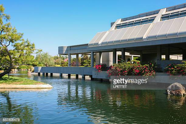 the japanese garden and water reclamation plant - los angeles - san fernando california stock photos and pictures