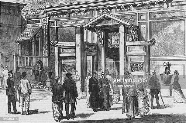 The Japanese gate at the Paris World's Fair 1878 Original Publication The Graphic pub 25th May 1878