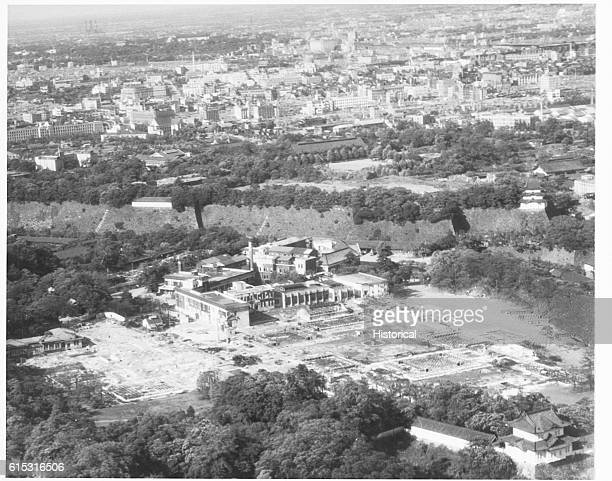 The Japanese Imperial Palace was not spared from bombing attacks