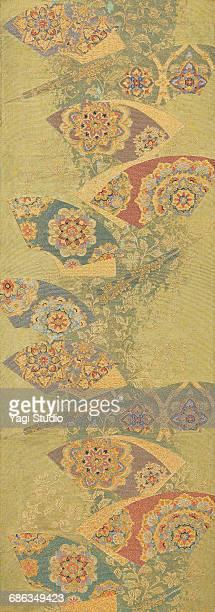 the japanese kimono, close up - khaki green stock pictures, royalty-free photos & images