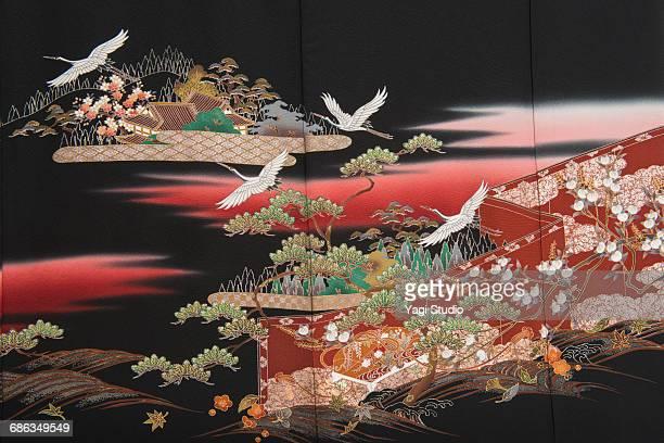 the japanese kimono, close up - 伝統 ストックフォトと画像
