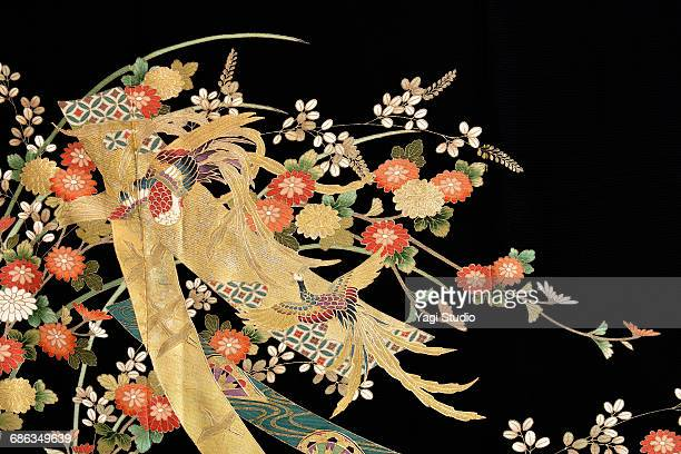 the japanese kimono, close up - 工芸品 ストックフォトと画像
